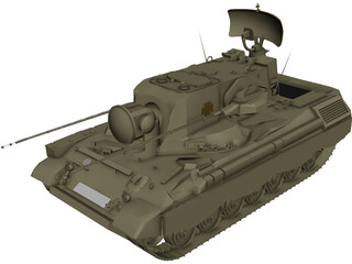 Flackpanzer Gepard 3D Model