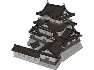 Castle Hikone 3D Model