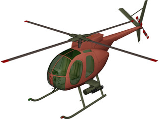 Hughes OH-6A Cayuse 3D Model 3D Preview
