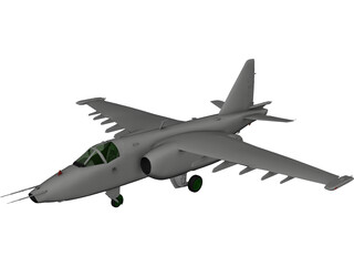 Sukhoi Su-25 Frogfoot 3D Model