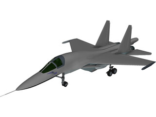 Sukhoi Su-34 Fullback 3D Model 3D Preview