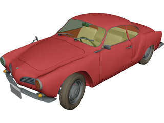 Volkswagen Karmann Ghia (1968) 3D Model