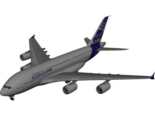 Airbus A380 Airliner 3D Model