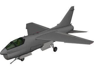 A-7 Corsair II 3D Model