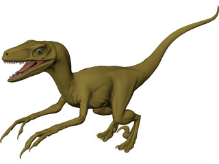 Deinonychus 3D Model