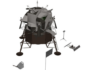 Eagle First Lunar Landing 3D Model