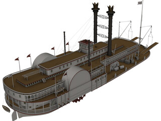 Mississippi Queen 3D Model