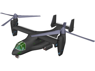 Bell-Boeing V-22 Osprey 3D Model 3D Preview