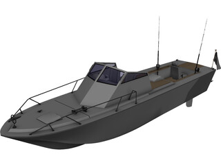 Fishing Boat Wahoo 3D Model