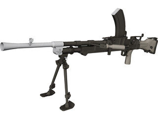 303 Bren MK1 Machinegun 3D Model