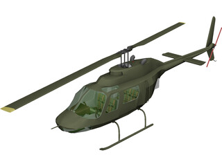 Bell 206 JetRanger [+Interior] 3D Model