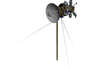Cassini Probe Spacecraft 3D Model