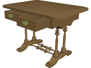 Table Biedermeier 3D Model