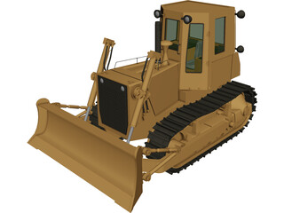 Bulldozer Fiat FD14-E 3D Model