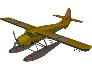 de Havilland Canada DHC-3 Otter 3D Model