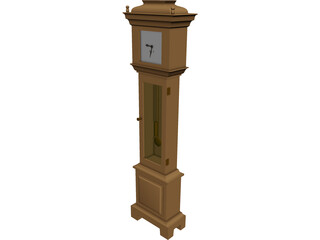 Clock Grandfather 3D Model