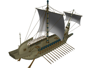 Greek Warship 3D Model