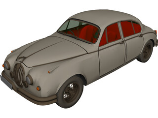 Jaguar Mark II (1962) 3D Model