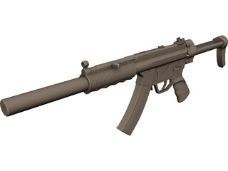 Heckler And Koch MP5 3D Model