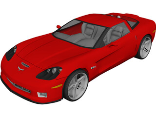 Chevrolet Corvette Z06 (2007) 3D Model 3D Preview