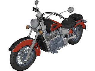 Honda Shadow UT 1100 Ace 3D Model