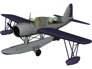 Vought OS2U Kingfisher 3D Model