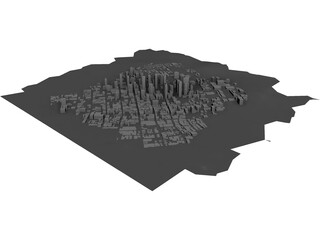 City Los Angeles (California) 3D Model
