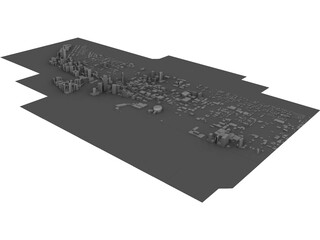 City Miami (Florida) 3D Model 3D Preview
