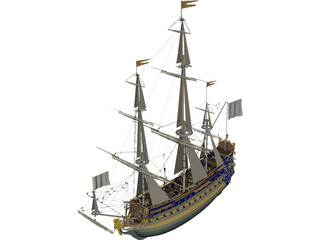 Le Soleil Royal Ship Of Line 3D Model