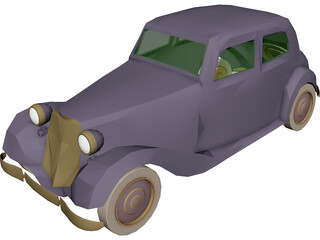 Mercedes-Benz 170 3D Model 3D Preview