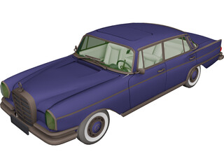 Mercedes-Benz 300 SE 3D Model 3D Preview