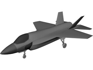 Lockheed Martin JSF F-35 3D Model 3D Preview