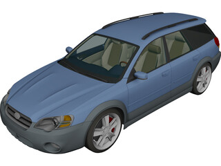 Subaru Outback Wagon (2005) 3D Model