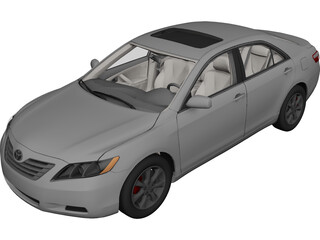 Toyota Camry (2007) 3D Model 3D Preview