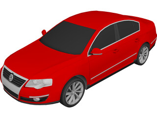 Volkswagen Passat 3D Model 3D Preview