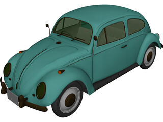 Volkswagen Beetle (1954) 3D Model