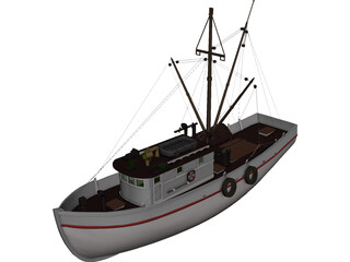 Shrimp Boat 3D Model
