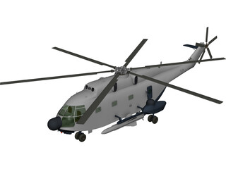 Aerospatiale SA 321 Super Frelon 3D Model