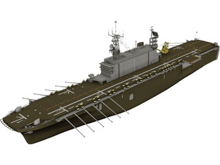 USS Tarawa LHA1 3D Model