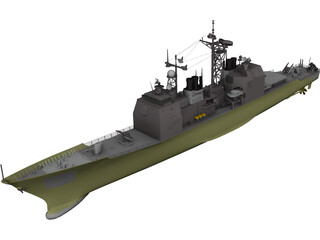Valley Forge Ticonderoga Class 3D Model