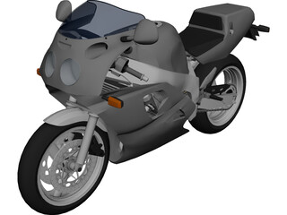 Yamaha FZR750R 3D Model 3D Preview