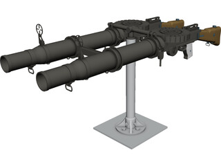 Lewis Mark I (.303 in) 3D Model