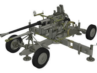 Bofors M1 (40 mm) 3D Model