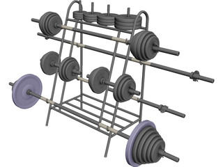 B Weight Lifting Senior (30 mm) 3D Model