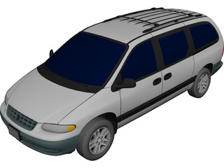 Plymouth Grand Voyager (1996) 3D Model