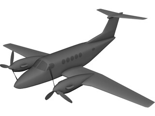 Beechcraft King Air B-200 Beech King 3D Model