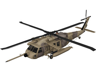 Sikorsky MH-60 3D Model