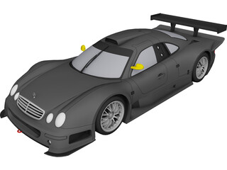 Mercedes-Benz CLK GTR (1998) 3D Model