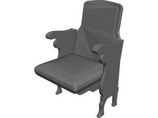Theater Seats 3D Model