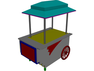 Vending Peddler's Cart 3D Model